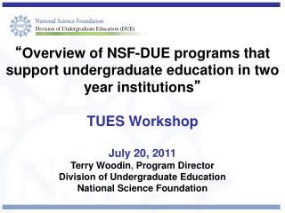 Division of Undergraduate Education (DUE)