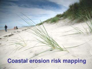 Coastal erosion risk mapping