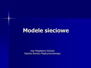 Modele sieciowe