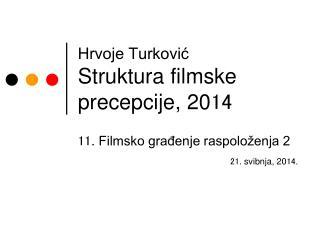 Hrvoje Turković Struktura filmske precepcije, 20 14