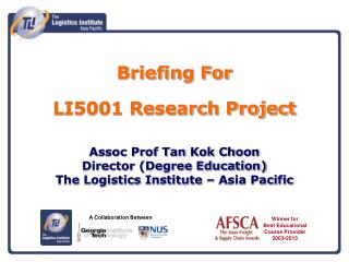 Briefing For  LI5001 Research Project