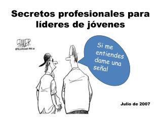 Secretos profesionales para  líderes de jóvenes