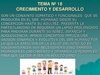 TEMA Nº 18 CRECIMIENTO Y DESARROLLO