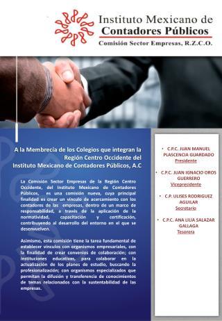 Boletín 09-2014 Octubre 2014. TEMA CONCURSO MERCANTIL INTEGRANTES DE LA COMISION SECTOR EMPRESAS