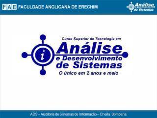Auditoria de Sistemas de Informa��o  Controles de Banco de Dados