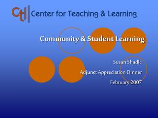 Community & Student Learning