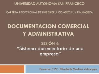 CARRERA PROFESIONAL DE INGENIERIA COMERCIAL Y FINANCIERA