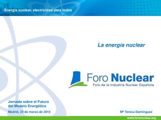 Energía nuclear, electricidad para todos