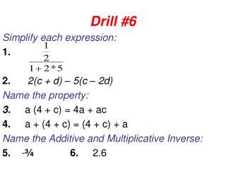 Drill #6