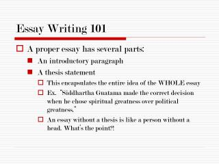 Essay Writing 101