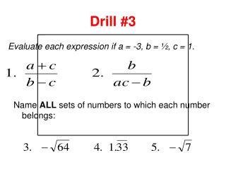 Drill #3