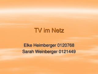 TV im Netz