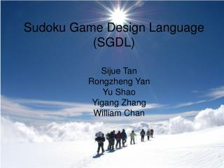 Sudoku Game Design Language (SGDL)