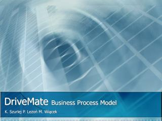 DriveMate  Business Process Model