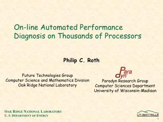 On-line Automated Performance Diagnosis on Thousands of Processors