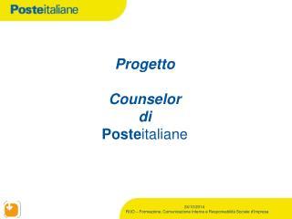 Progetto Counselor di  Poste italiane