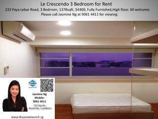 Le  Crescendo 3 Bedroom for  Rent