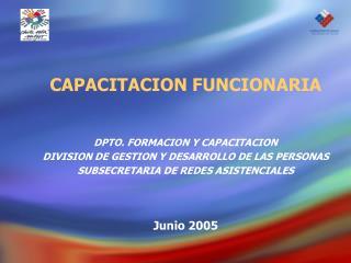CAPACITACION FUNCIONARIA DPTO. FORMACION Y CAPACITACION