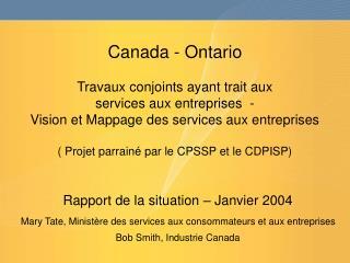 Rapport de la situation – Janvier 2004
