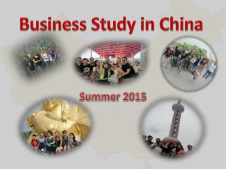 Business Study in China