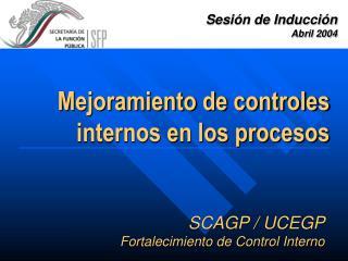 SCAGP / UCEGP Fortalecimiento de Control Interno