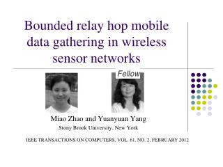 Bounded relay hop mobile data gathering in wireless sensor networks