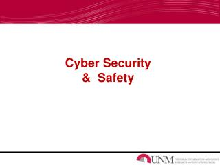 Cyber Security  &  Safety