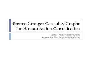 Sparse Granger Causality Graphs for Human Action Classification