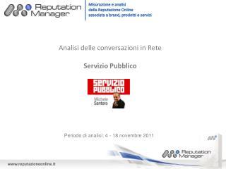 Analisi delle conversazioni in Rete Servizio Pubblico