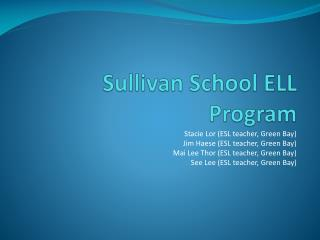 Sullivan School ELL Program