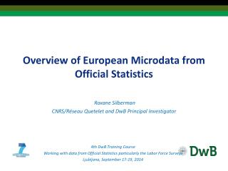 Overview of European  Microdata  from Official Statistics