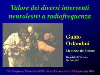 Valore dei diversi interventi neurolesivi a radiofrequenza