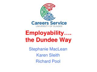 Employability…. the Dundee Way