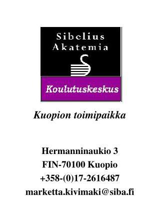 Kuopion toimipaikka