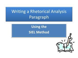 Writing a Rhetorical Analysis Paragraph