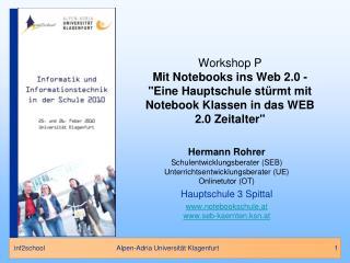 Hermann Rohrer Schulentwicklungsberater (SEB) Unterrichtsentwicklungsberater (UE) Onlinetutor (OT)
