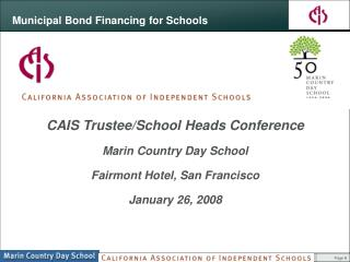 Municipal Bond Financing for Schools