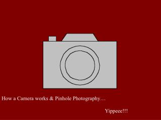 How a Camera works & Pinhole Photography…