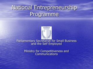 National Entrepreneurship Programme