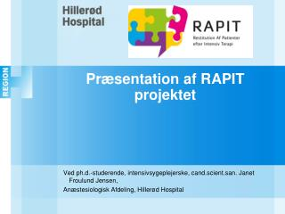 Præsentation af RAPIT projektet
