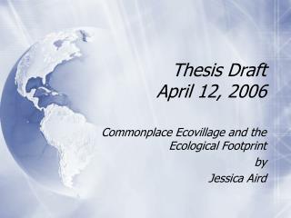Thesis Draft  April 12, 2006
