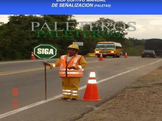 DISPOSITIVO MANUAL  DE SE�ALIZACION  (PALETAS)
