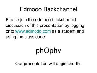 Edmodo Backchannel