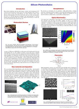 Silicon Photovoltaics