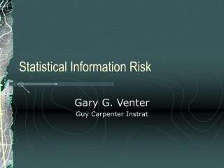 Statistical Information Risk