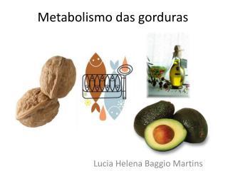 Metabolismo das gorduras
