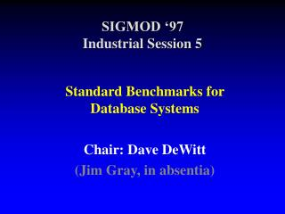 SIGMOD  97 Industrial Session 5