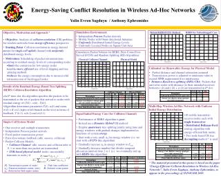 Energy-Saving Conflict Resolution in Wireless Ad-Hoc Networks
