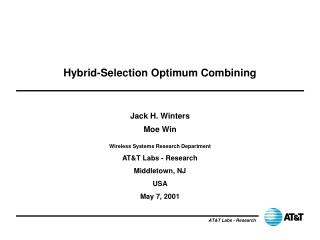 Hybrid-Selection Optimum Combining