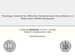 Topology Control for Effective Interference Cancellation in Multi-User MIMO Networks